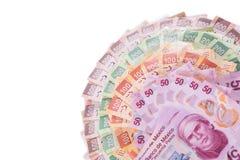 Fondo mexicano del dinero Fotografía de archivo
