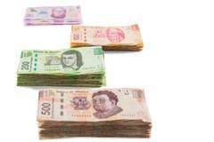 Fondo mexicano del dinero Imagenes de archivo