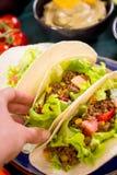 Fondo mexicano mezclado de la comida Foto de archivo