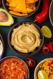 Fondo mexicano mezclado de la comida Fotografía de archivo