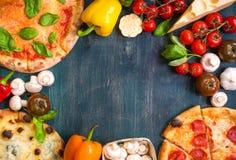 Fondo mexicano mezclado de la comida Fotos de archivo libres de regalías