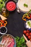 Fondo mexicano mezclado de la comida Imagen de archivo libre de regalías