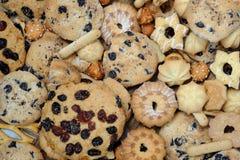 Fondo mezclado de las galletas Imagenes de archivo