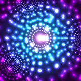 Fondo micro del cosmos del vector que brilla intensamente Foto de archivo libre de regalías