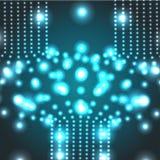 Fondo micro del cosmos del vector que brilla intensamente EPS10 Fotografía de archivo