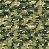 Fondo militar del camo del pixel stock de ilustración