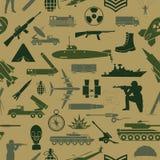 fondo militar Modelo inconsútil Elementos militares ilustración del vector