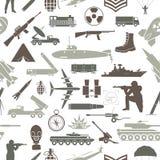 fondo militar Modelo inconsútil Elementos militares, armore stock de ilustración
