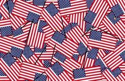 Fondo miniatura delle bandiere americane Fotografie Stock