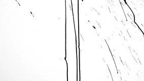 Fondo minimalista artístico con el chapoteo líquido de la pintura aislado en blanco metrajes