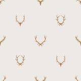 Fondo minimalista del vector inconsútil del modelo con las astas de los ciervos ilustración del vector