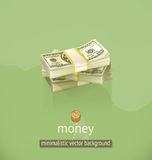 Fondo minimalistic del vector del dinero Imágenes de archivo libres de regalías