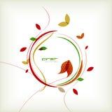 Fondo minimo floreale di autunno Fotografia Stock Libera da Diritti