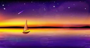 Fondo misterioso di tramonto Fotografia Stock