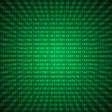 Fondo mistico astratto eps10 delle linee verde delle cifre di codice binario royalty illustrazione gratis