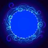 Fondo mistico blu astratto del pizzo con il turbinio Fotografie Stock Libere da Diritti