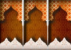Fondo modelado árabe Fotografía de archivo libre de regalías