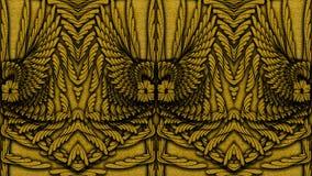 Fondo modellato dorato astratto per la progettazione dei tessuti, Immagine Stock
