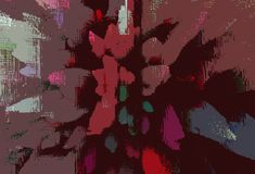 Fondo modellato multicolore di fantasia con effetto di esplosione royalty illustrazione gratis