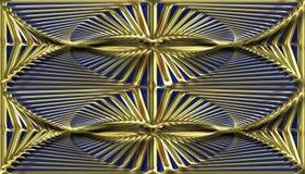 Fondo modellato oro astratto, immagine raster Fotografia Stock