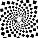 Fondo, modelo, modelo espiral blanco y negro Ejemplo de semitono centrado redondo Cuadrado, forma, geometría, centro, concep Imagenes de archivo