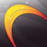 Fondo moderno abstracto anaranjado del metal Fotografía de archivo