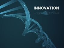 Fondo moderno abstracto del negocio que representa la innovación con las estrellas y las líneas en forma de un doble hélice de la libre illustration