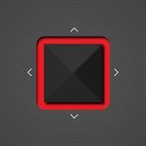 Fondo moderno astratto con il quadrato rosso Fotografia Stock