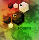 Fondo moderno astratto del pixel Fotografie Stock