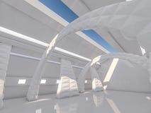 Fondo moderno astratto di architettura rappresentazione 3d Fotografia Stock Libera da Diritti