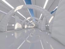 Fondo moderno astratto di architettura rappresentazione 3d Immagini Stock Libere da Diritti