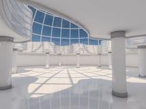 Fondo moderno astratto di architettura rappresentazione 3d Fotografie Stock