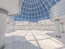 Fondo moderno astratto di architettura rappresentazione 3d Immagine Stock