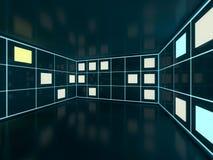 Fondo moderno astratto di architettura rappresentazione 3d Fotografie Stock Libere da Diritti
