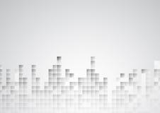 Fondo moderno bianco astratto di stile illustrazione di stock