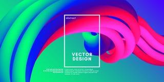 Fondo moderno 3d Forma colorida del líquido del extracto de la onda stock de ilustración