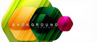 Fondo moderno de la composición de los hexágonos brillantes del color, diseño de cristal brillante ilustración del vector
