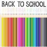 Fondo moderno de la escuela con el lápiz del color Foto de archivo libre de regalías
