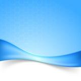 Fondo moderno de la onda abstracta azul de Swoosh Fotografía de archivo