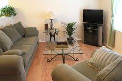 Fondo moderno de la sala de estar de la familia Fotografía de archivo
