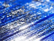 Fondo moderno de luces estelares en azul fotografía de archivo libre de regalías