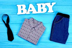 Fondo moderno dei vestiti del neonato Immagini Stock