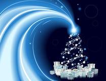 Fondo moderno del árbol de navidad del estilo Imagen de archivo libre de regalías