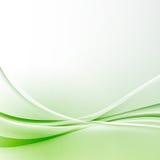 Fondo moderno del certificado del extracto de la frontera de la onda verde ilustración del vector