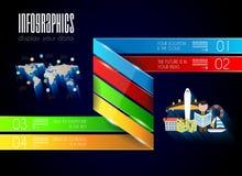 Fondo moderno del concepto del estilo de Infographic Imagen de archivo