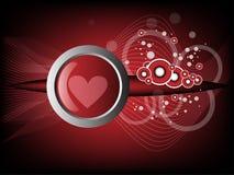 Fondo moderno del corazón Fotografía de archivo libre de regalías