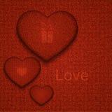 Fondo moderno del corazón del dril de algodón del vector Fotografía de archivo libre de regalías