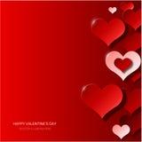 Fondo moderno del día de tarjeta del día de San Valentín Fotografía de archivo