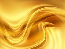 Fondo moderno del extracto dinámico amarillo del color del oro ilustración del vector