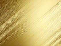Fondo moderno del metallo dell'oro, grafico, decorativo, pendenza, gol Fotografie Stock